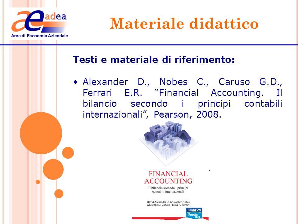 Materiale didattico Testi e materiale di riferimento: