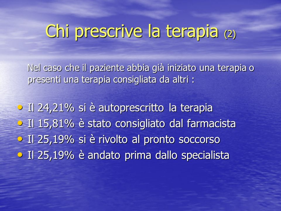 Chi prescrive la terapia (2)