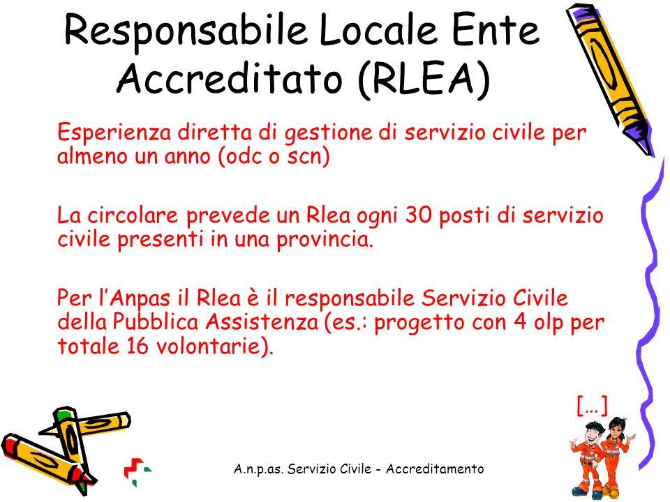 Responsabile Locale Ente Accreditato (RLEA)
