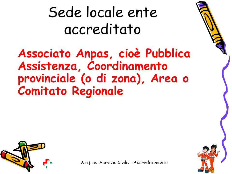 Sede locale ente accreditato