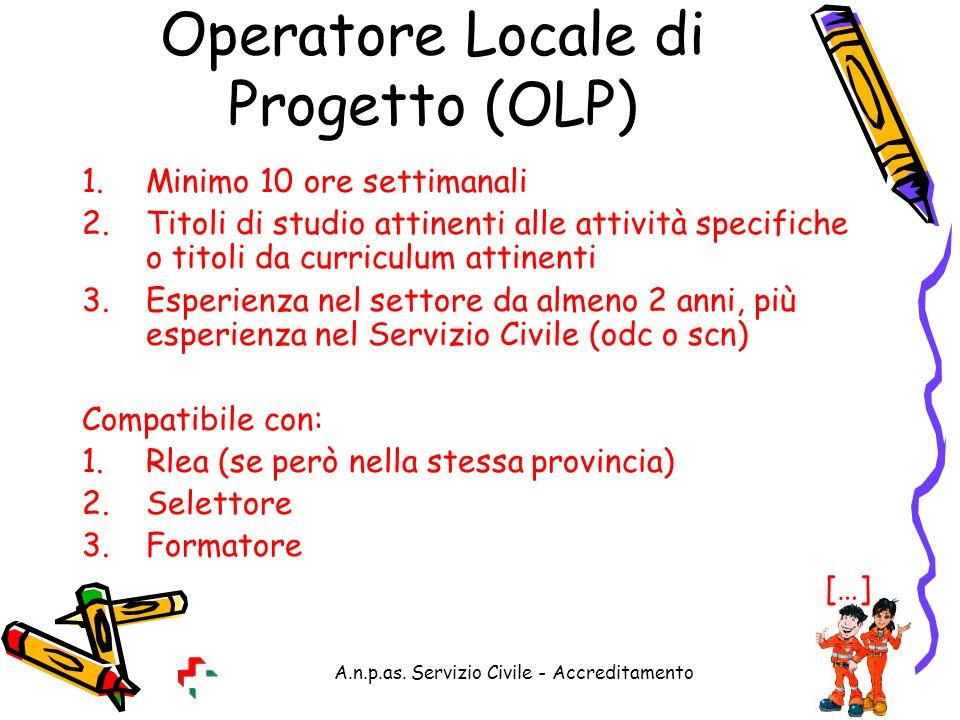Operatore Locale di Progetto (OLP)