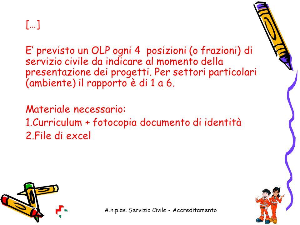 A.n.p.as. Servizio Civile - Accreditamento