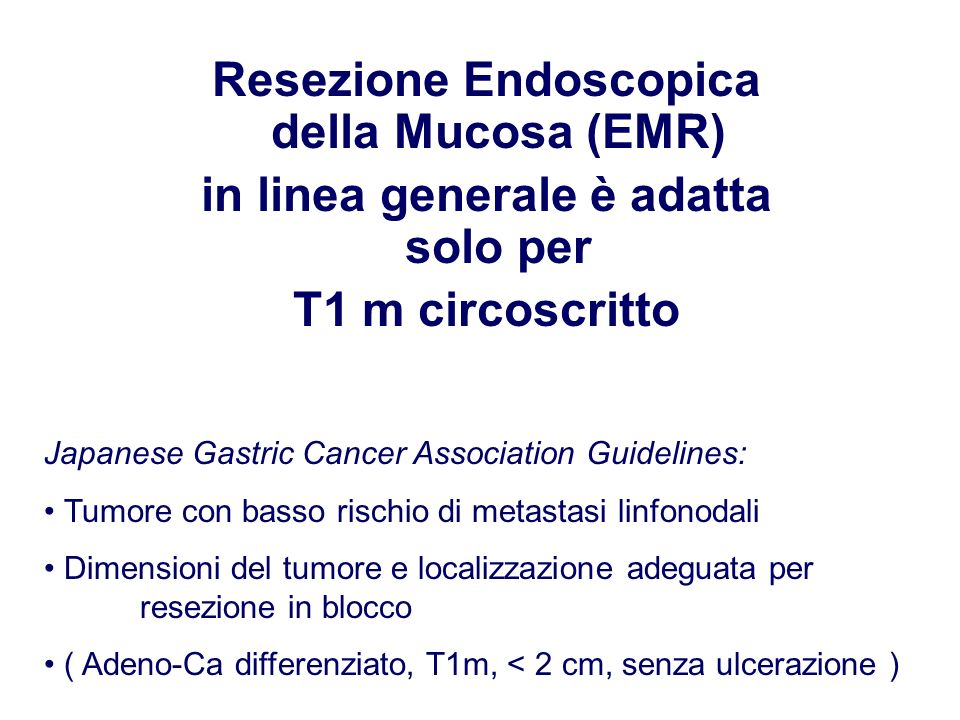 Resezione Endoscopica della Mucosa (EMR)