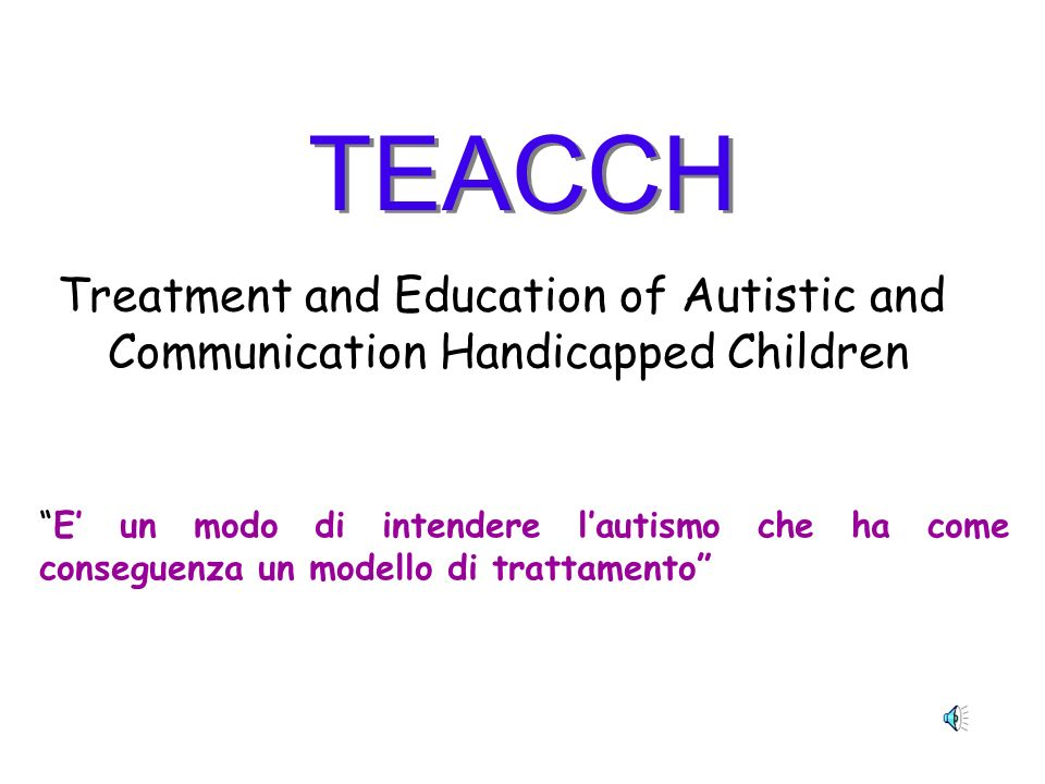 TEACCH Treatment and Education of Autistic and