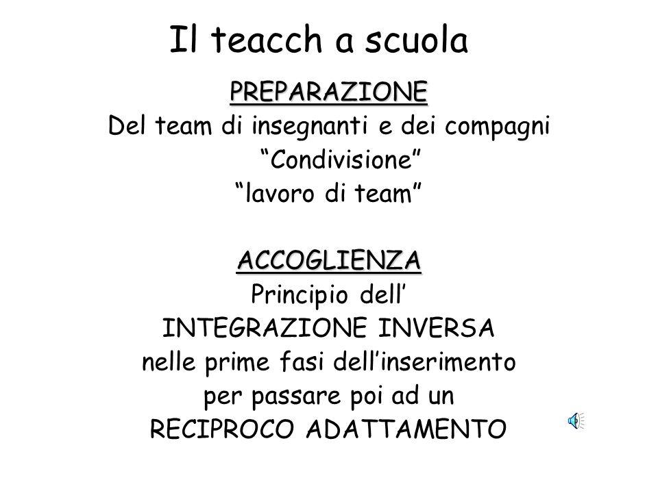Il teacch a scuola PREPARAZIONE Del team di insegnanti e dei compagni