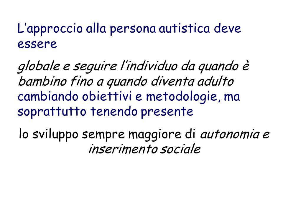lo sviluppo sempre maggiore di autonomia e inserimento sociale