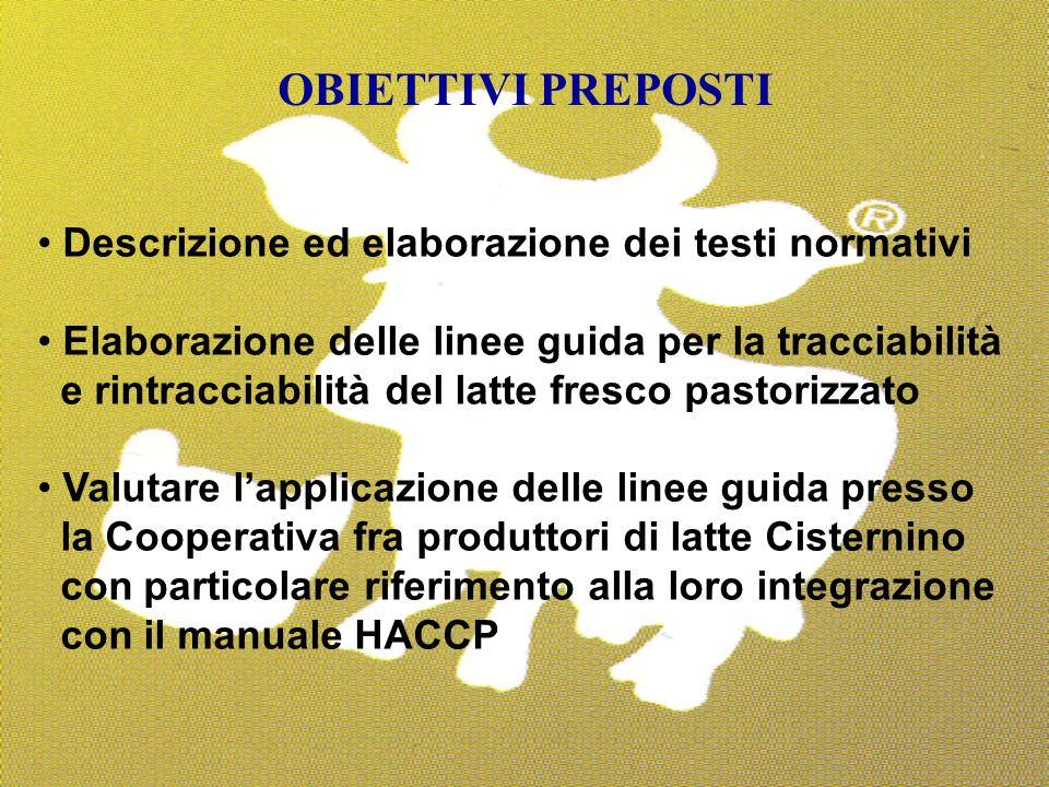 OBIETTIVI PREPOSTI Descrizione ed elaborazione dei testi normativi