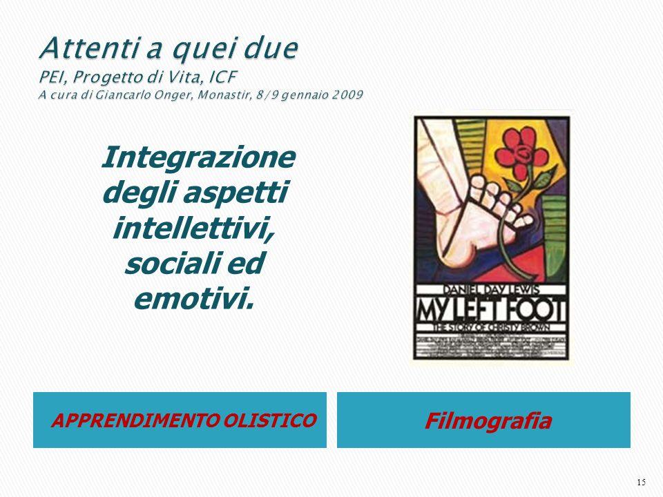 Integrazione degli aspetti intellettivi, sociali ed emotivi.