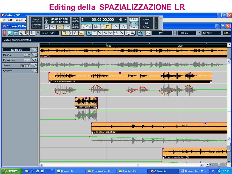 Editing della SPAZIALIZZAZIONE LR