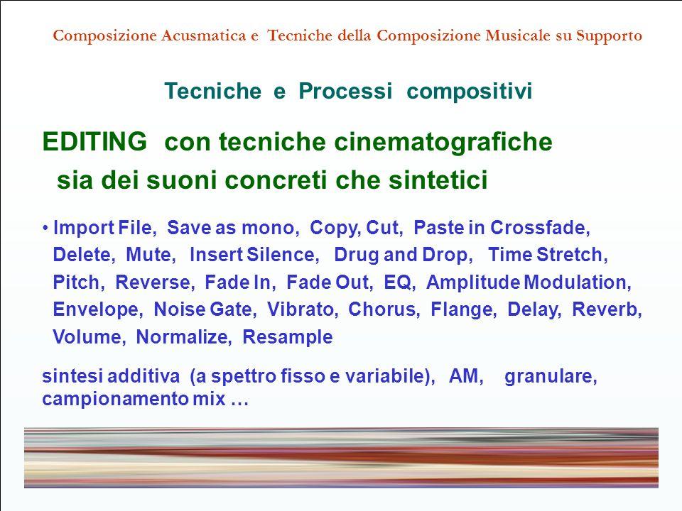 Tecniche e Processi compositivi