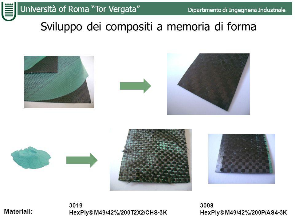 Sviluppo dei compositi a memoria di forma