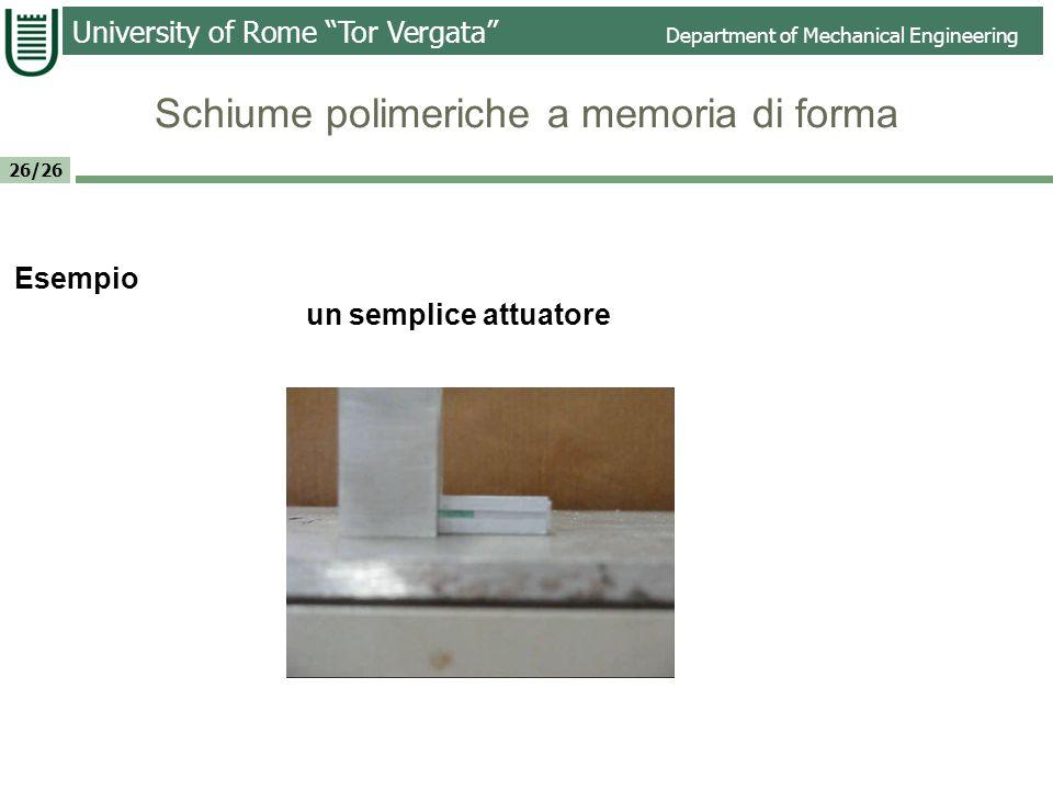 Schiume polimeriche a memoria di forma