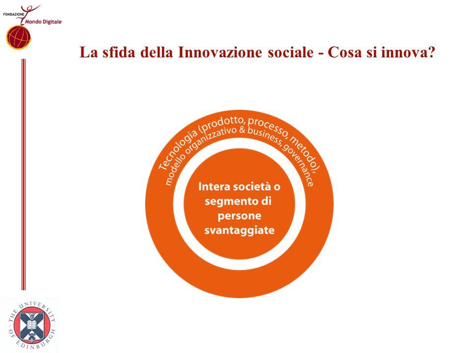 La sfida della Innovazione sociale - Cosa si innova