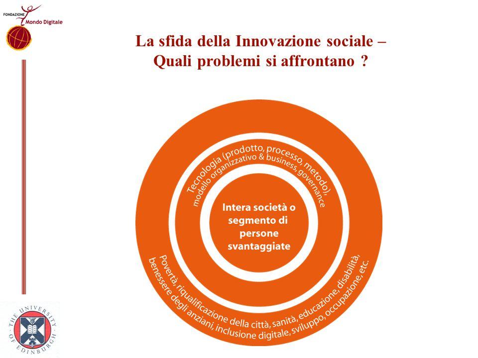 La sfida della Innovazione sociale – Quali problemi si affrontano