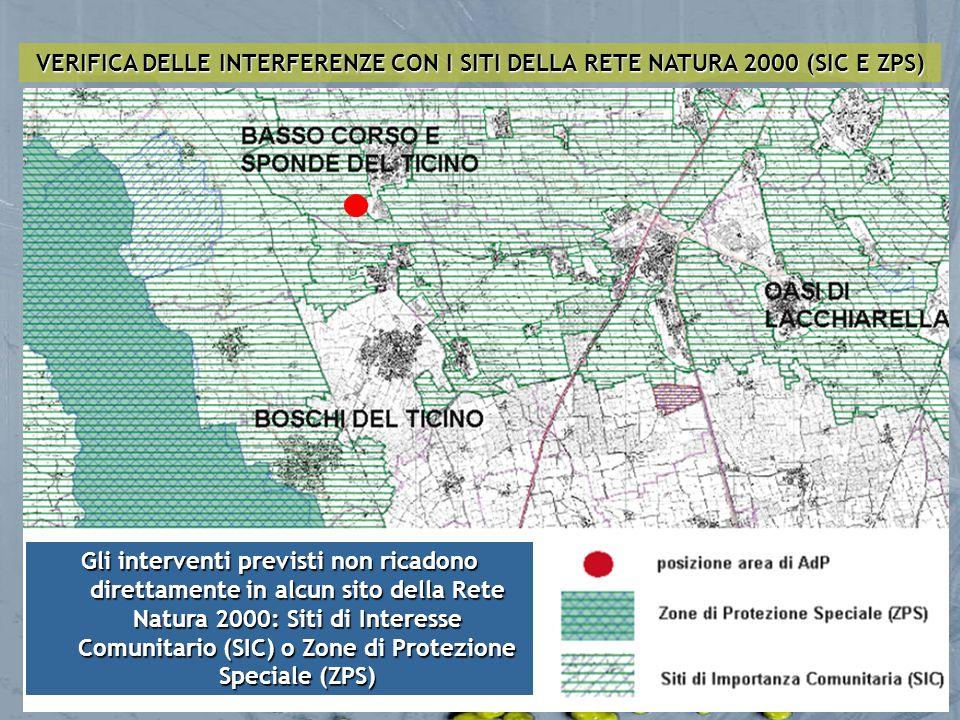 VERIFICA DELLE INTERFERENZE CON I SITI DELLA RETE NATURA 2000 (SIC E ZPS)