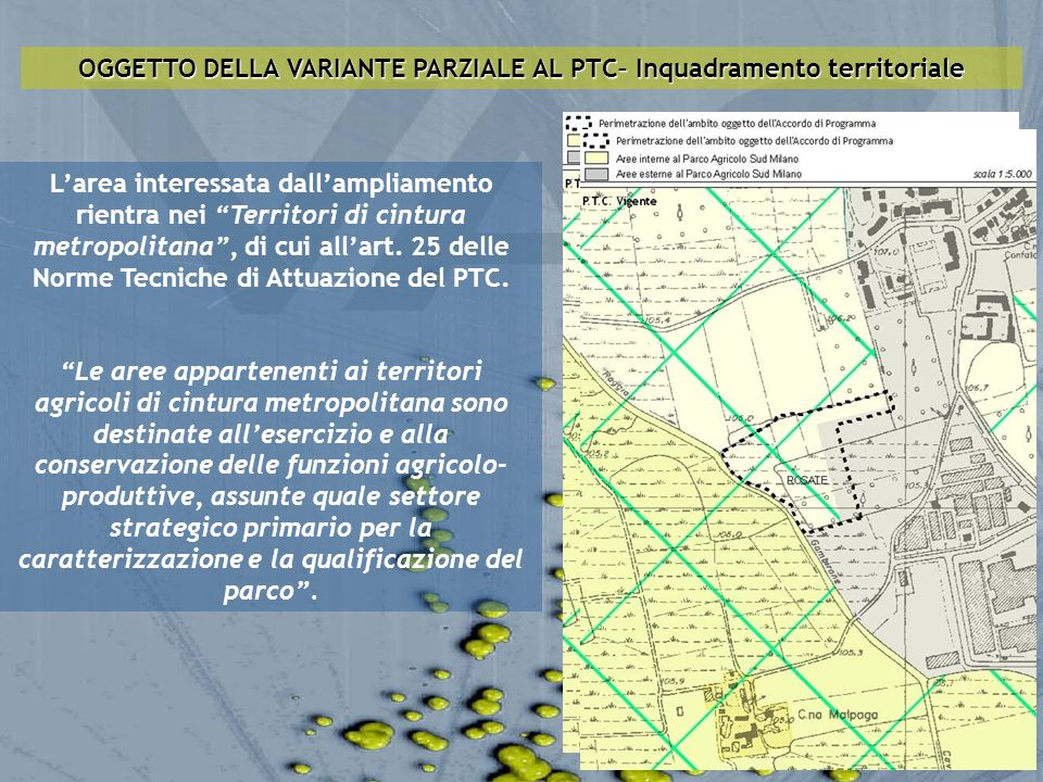 OGGETTO DELLA VARIANTE PARZIALE AL PTC– Inquadramento territoriale