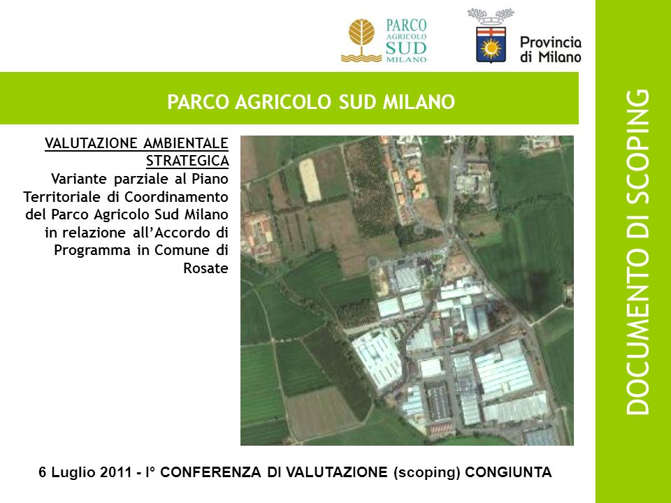 DOCUMENTO DI SCOPING PARCO AGRICOLO SUD MILANO