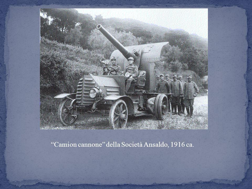Camion cannone della Società Ansaldo, 1916 ca.