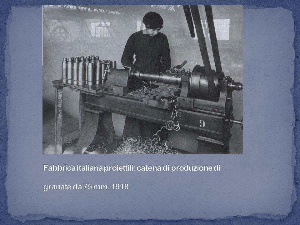 Fabbrica italiana proiettili: catena di produzione di granate da 75 mm
