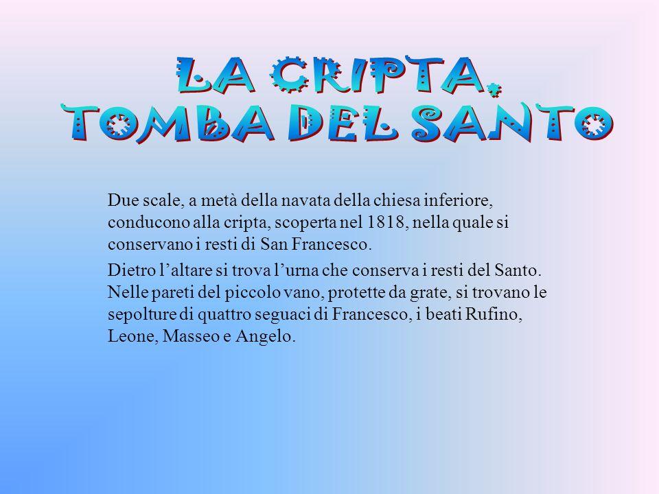 LA CRIPTA, TOMBA DEL SANTO