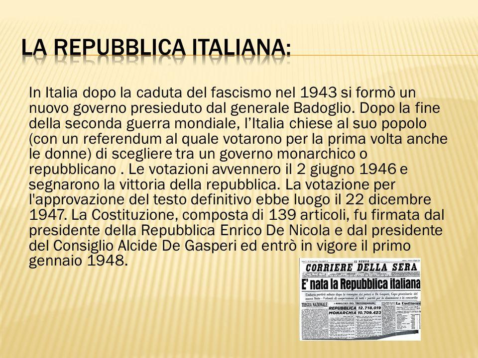 La repubblica italiana: