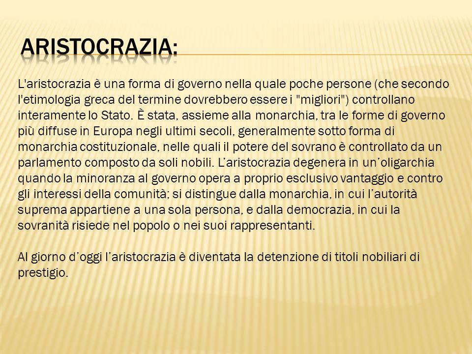 Aristocrazia:
