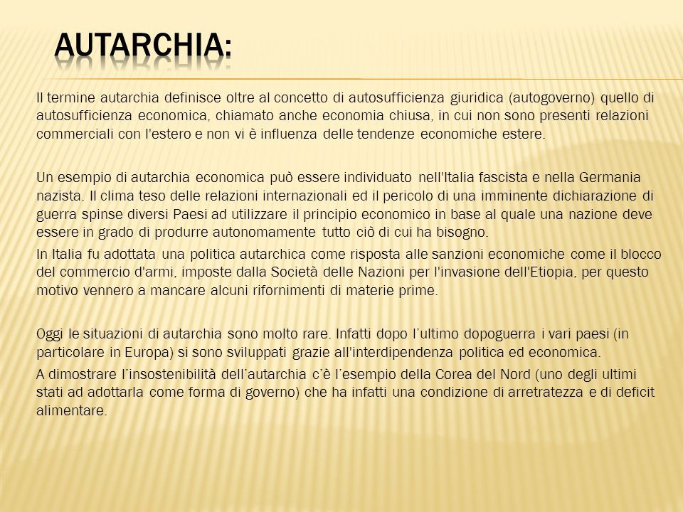 AUTARCHIA: