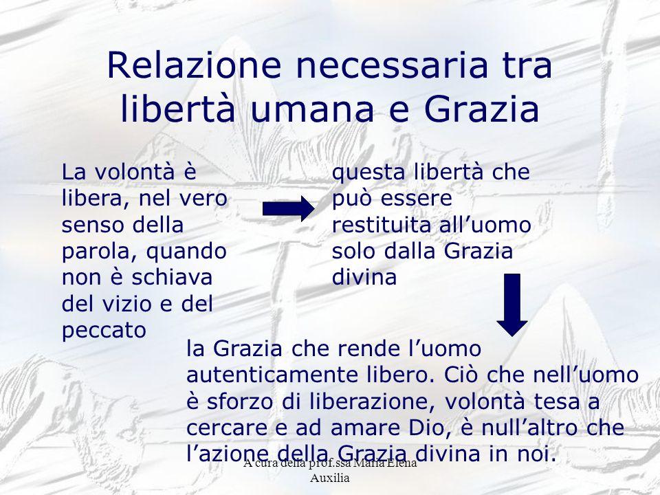 Relazione necessaria tra libertà umana e Grazia