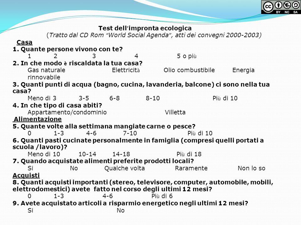 (Tratto dal CD Rom World Social Agenda , atti dei convegni 2000-2003)
