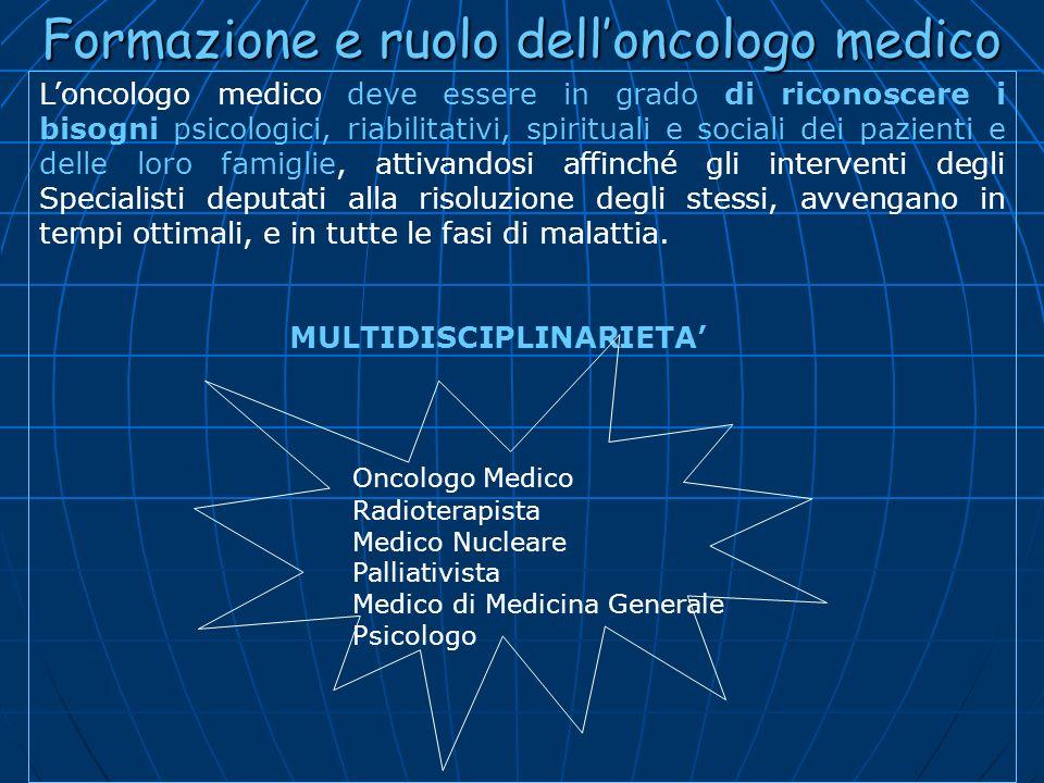 Formazione e ruolo dell'oncologo medico