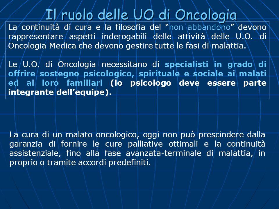 Il ruolo delle UO di Oncologia