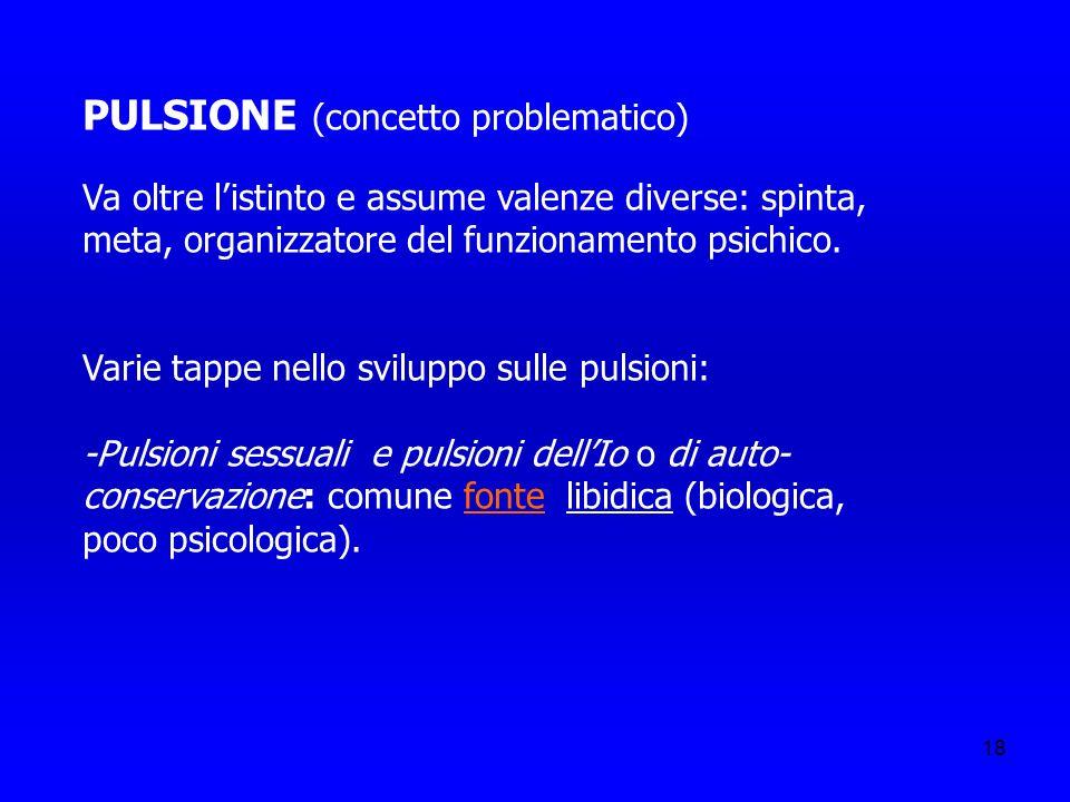 PULSIONE (concetto problematico)