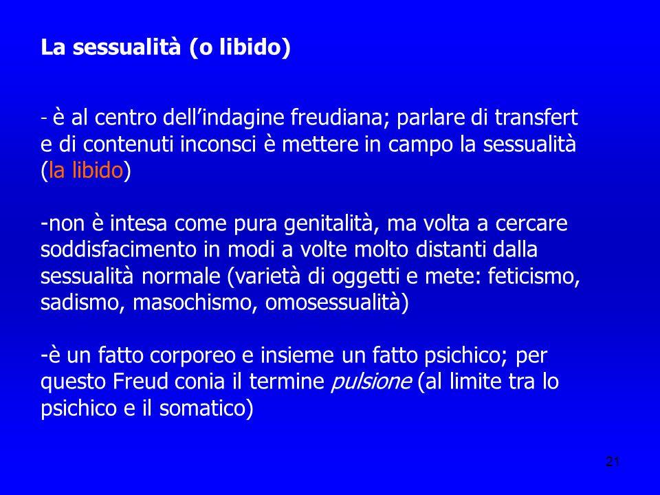 La sessualità (o libido)