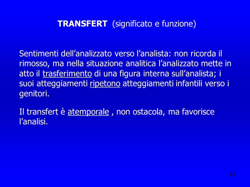 TRANSFERT (significato e funzione)