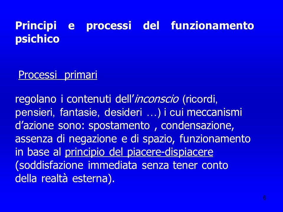 Principi e processi del funzionamento psichico