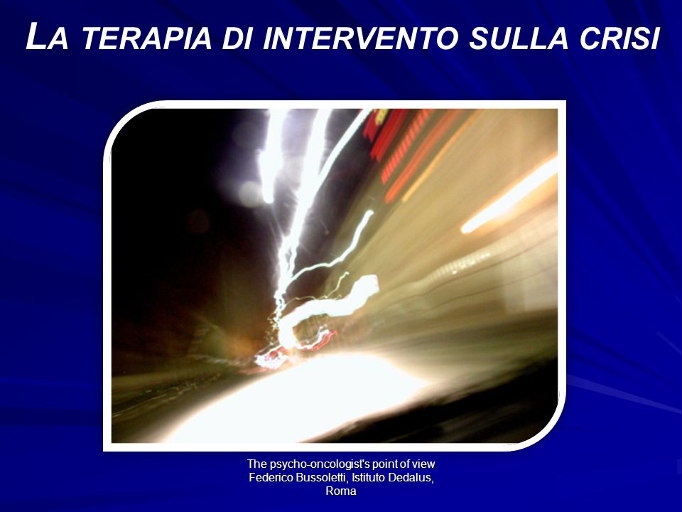 La terapia di intervento sulla crisi