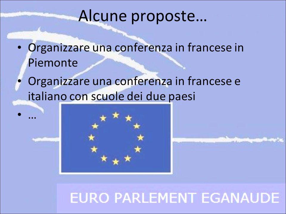 Alcune proposte… Organizzare una conferenza in francese in Piemonte