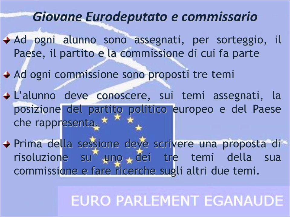 Giovane Eurodeputato e commissario