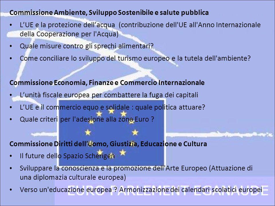 Commissione Ambiente, Sviluppo Sostenibile e salute pubblica