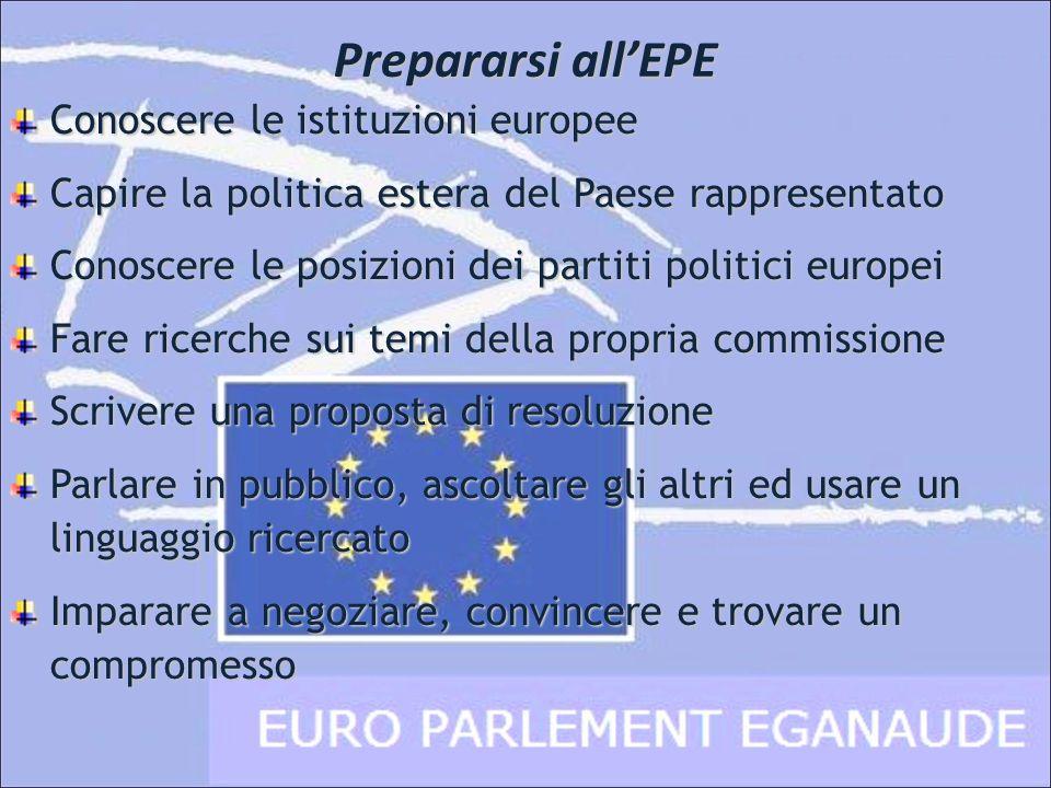 Prepararsi all'EPE Conoscere le istituzioni europee