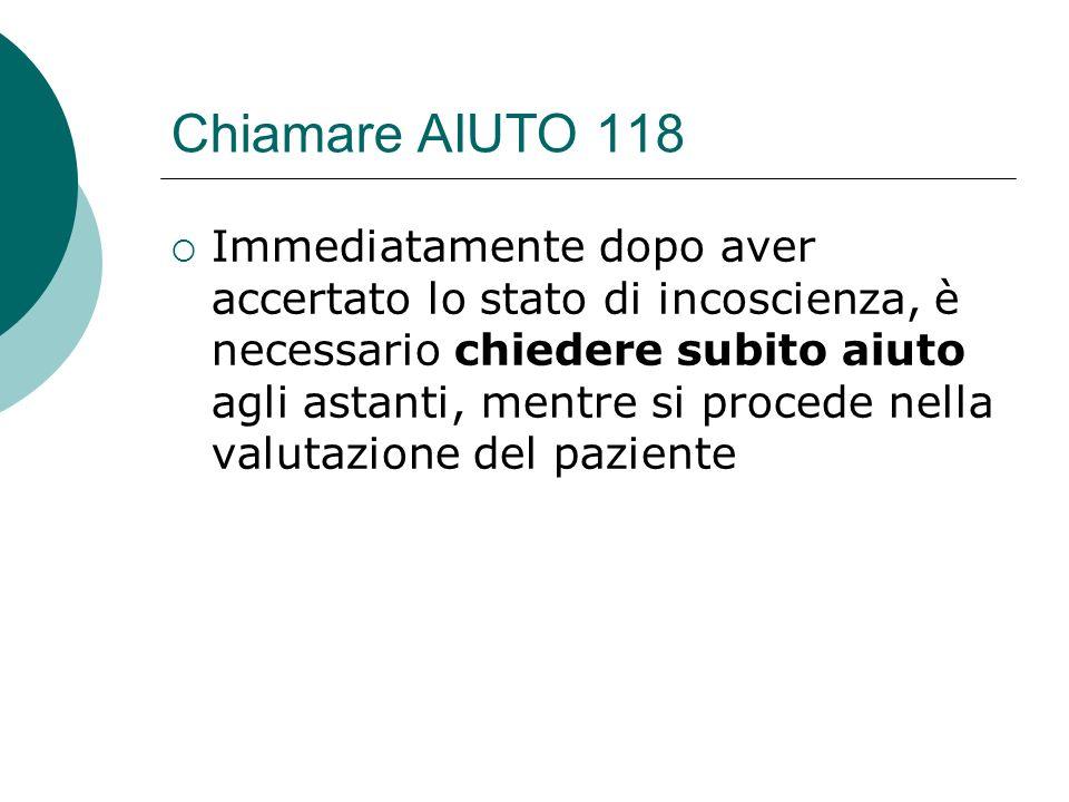 Chiamare AIUTO 118