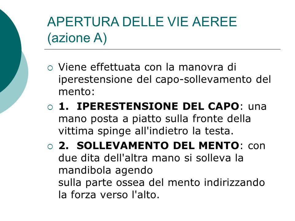 APERTURA DELLE VIE AEREE (azione A)
