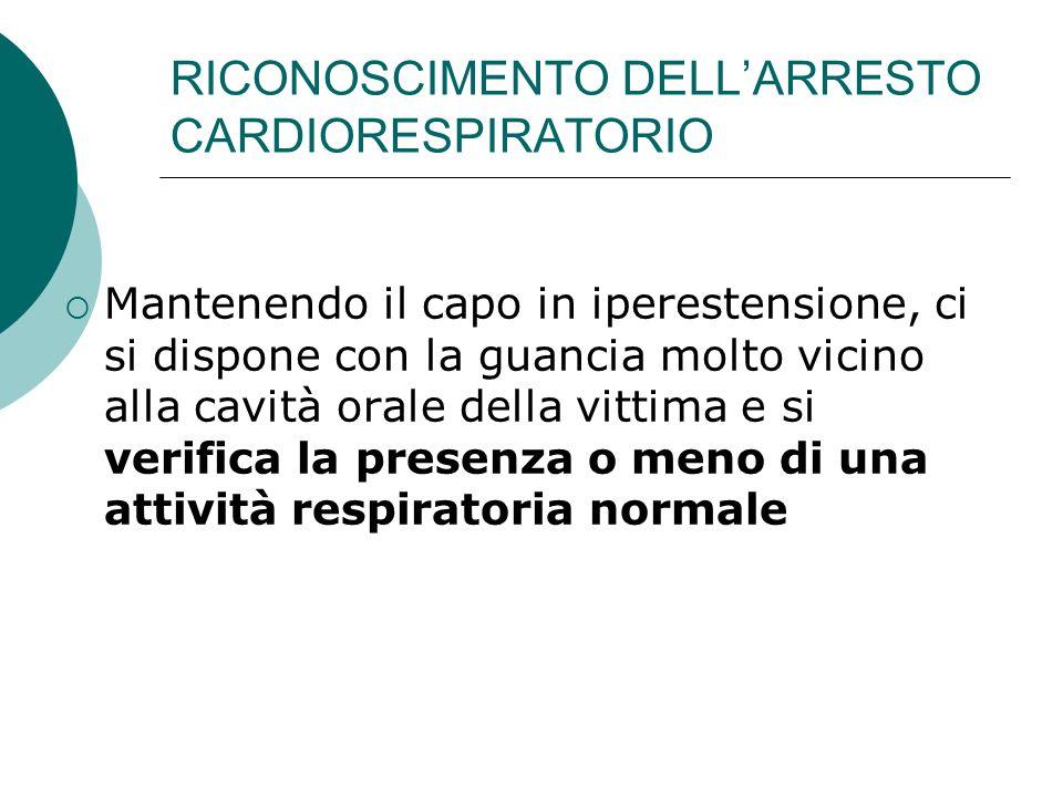 RICONOSCIMENTO DELL'ARRESTO CARDIORESPIRATORIO