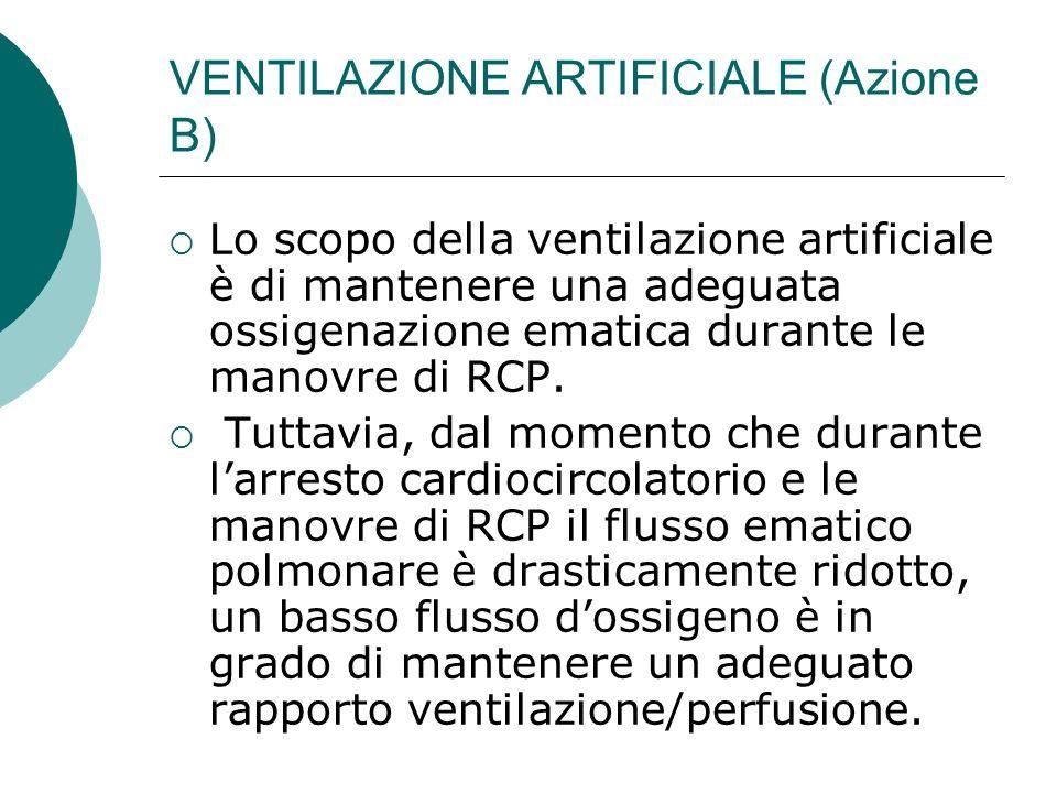 VENTILAZIONE ARTIFICIALE (Azione B)
