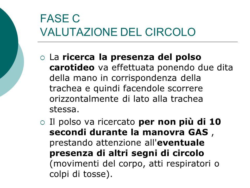 FASE C VALUTAZIONE DEL CIRCOLO