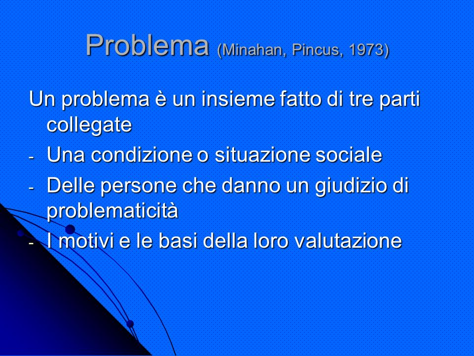 Problema (Minahan, Pincus, 1973)