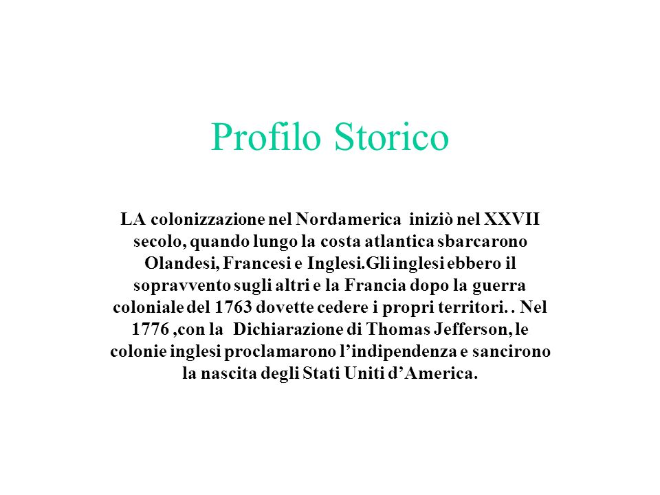 Profilo Storico