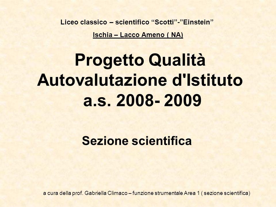 Progetto Qualità Autovalutazione d Istituto a.s. 2008- 2009