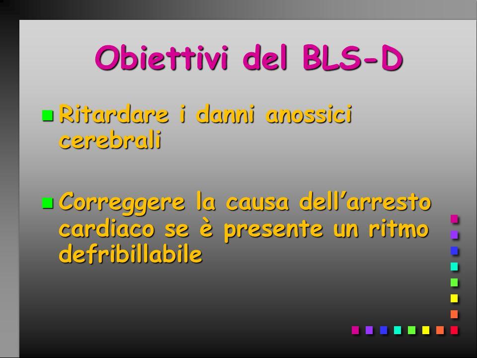 Obiettivi del BLS-D Ritardare i danni anossici cerebrali