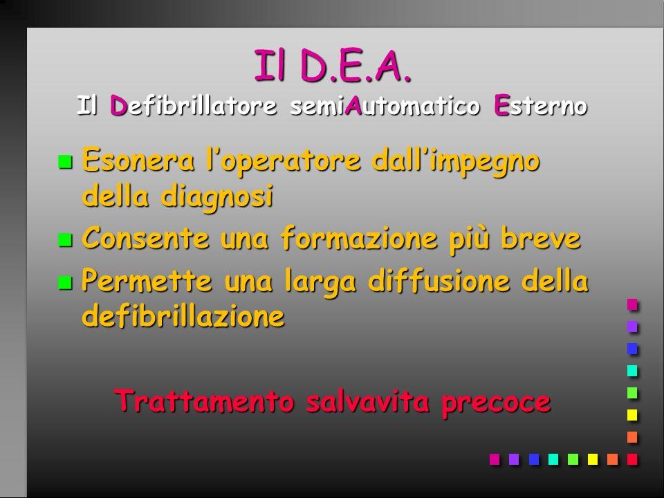 Il D.E.A. Il Defibrillatore semiAutomatico Esterno